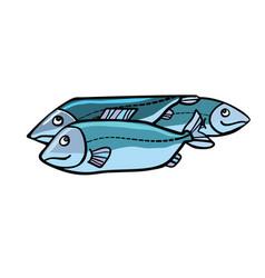 Fish food vector