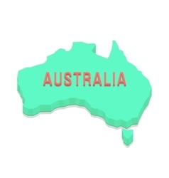 green 3d Australia silhouette vector image vector image
