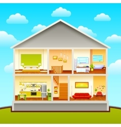 House Interiors Design Composition vector image