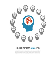 Human Desires Icons vector image vector image