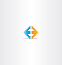 letter e square logo sign vector image