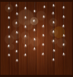 lighting garland on colorful background glowing vector image
