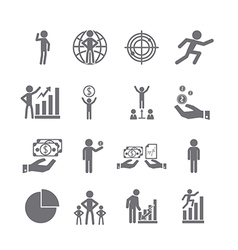 management icons set vector image