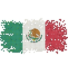 Mexicangrunge tile flag vector
