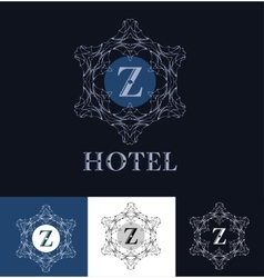 Monogram logo template vector
