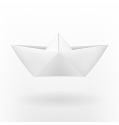 Origami paper boat vector image