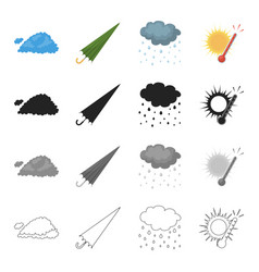 Phenomenon nature ecology and other web icon in vector