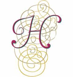 script letter h vector image vector image