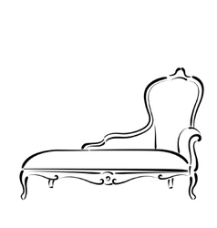 Sketched sofa couch daybed vector