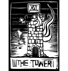 Tower tarot vector