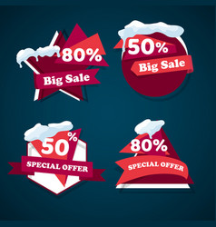 Winter big sale templates banner vector