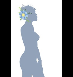 Woman siluet vector