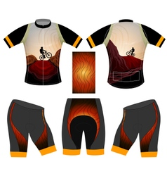Mtb cycling vest vector