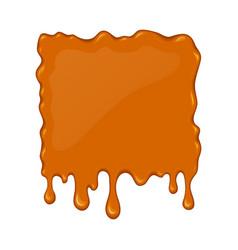 Splash of flowing caramel vector