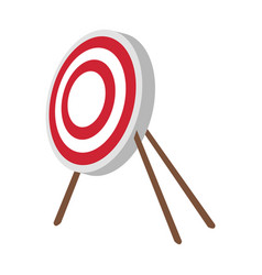Bullseye board icon image vector