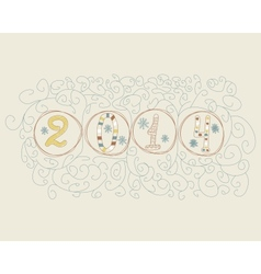 Hand drawn 2014 numbers vector