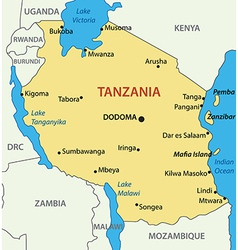 United republic of tanzania - map vector