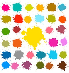 Splashes - blots - stains set vector