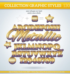 Metallic Graphic Style for Design vector image