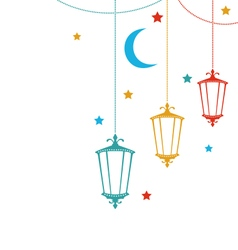 Celebration cute card for ramadan kareem vector
