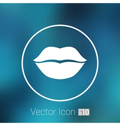 Kiss lips lipstick icon passion symbol people vector