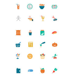 Food and drinks colored icons 19 vector