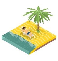 Business vacation vector image
