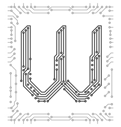 alphabet of printed circuit boards vector image