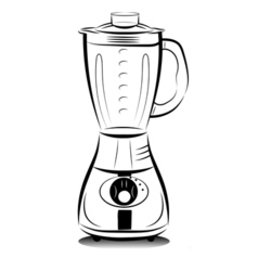 Kitchen blender vector