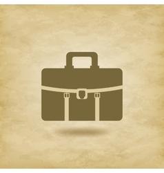 Briefcase icon on grunge background vector