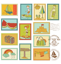 Summer and sea elements vector