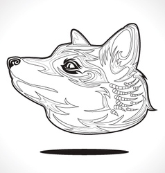 Fox outline vector