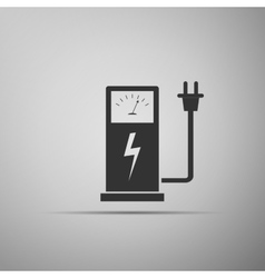 Electric energy supply for cars icon vector