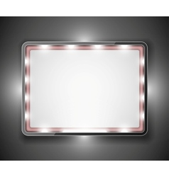 An empty frame for text vector image