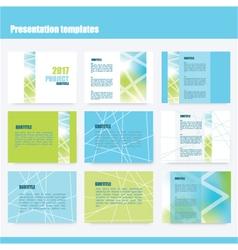 Presentation templates vector image