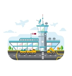 Airport Modern Flat Design vector image vector image