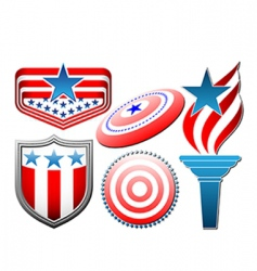 American star and stripes set vector image