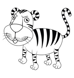 Animal outline for tiger vector
