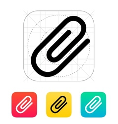 Attachment paper clip icon vector