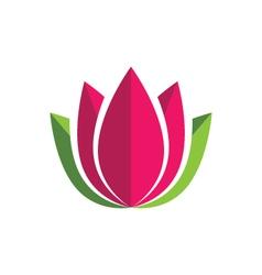 Beauty flowers design logo template vector