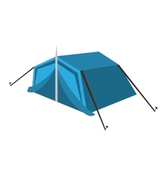Blue camping tent graphic vector
