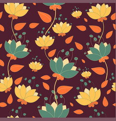 Botanical floral pattern with cute branches and vector