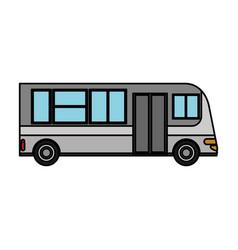 bus transport urban public vector image vector image