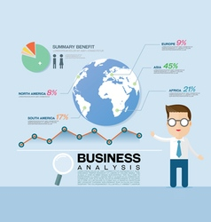 business graph info vector image vector image