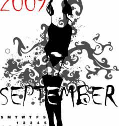 calendar 2009 vector image vector image