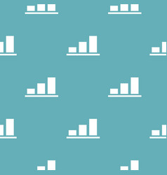 chart pattern seamless blue vector image