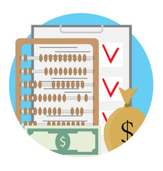 Checklist and money vector