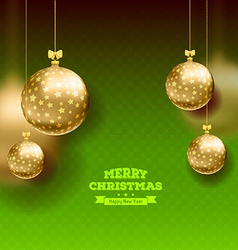 Christmas card with balls background vector image vector image