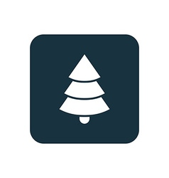 Christmas tree icon rounded squares button vector