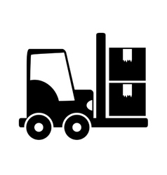forklift delivery cargo vector image